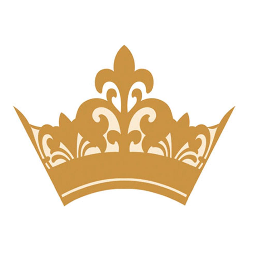 Aplique Em Papel E Mdf Apm3 147 Coroa Dourada Litoarte