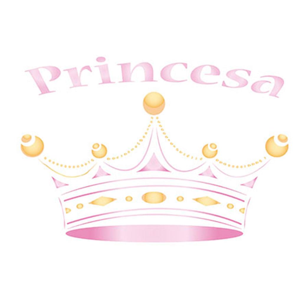 stencil para pintura 17x21cm stm 134 coroa princesa litoarte