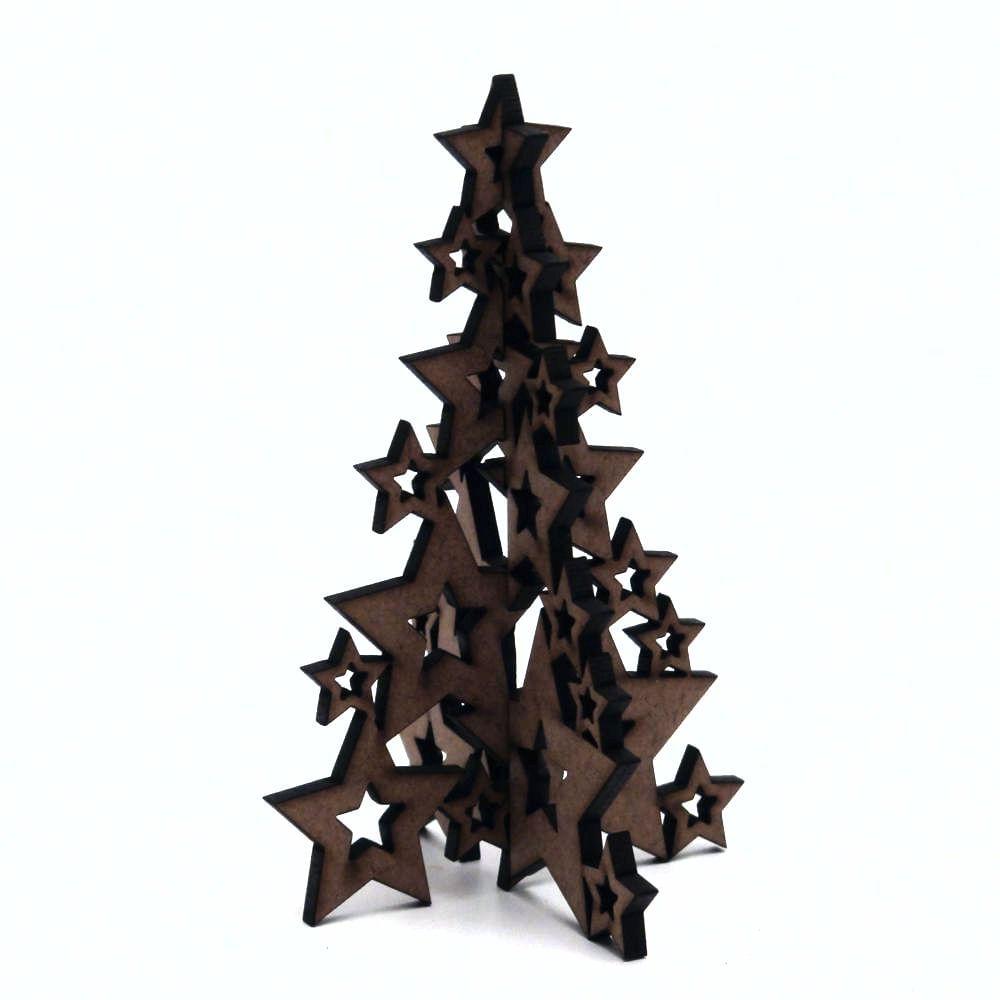 Recorte De Mdf Coleção Natal árvore 07 10 Cm