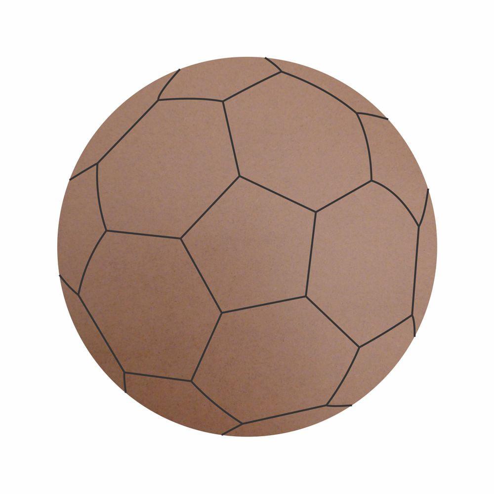2deb7156949c18 Recorte de MDF Coleção Esportes - Bola de Futebol - 5 cm - 5 unidades