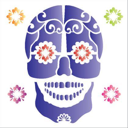10X10-Simples---Caveira-Mexicana---OPA1177---Colorido
