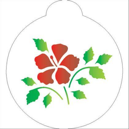 10X10-Redondo---Flor-Hibisco---OPA856---Colorido