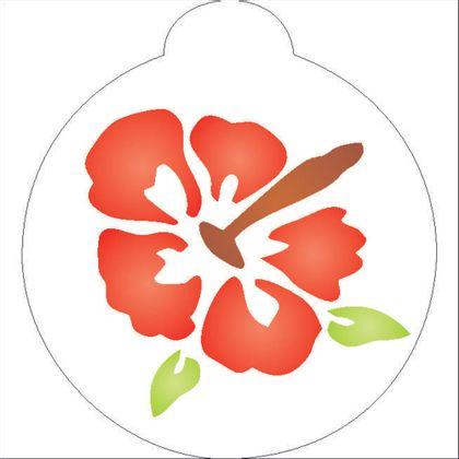 Redondo-10x10---Flor-Hibisco-II---OPA1022---Colorido