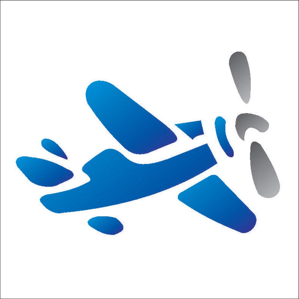Stencil Para Pintura 10 X 10cm Opa229 Infantil Aviao Opa