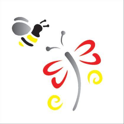 10X10-Simples---Libelula-e-Abelha---OPA362---Colorido