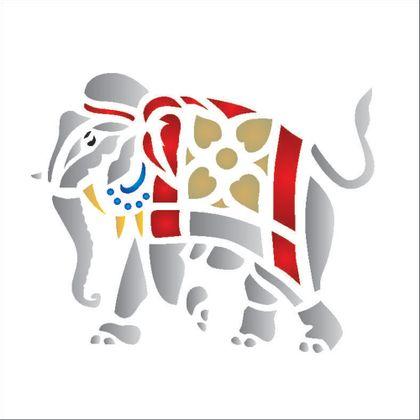 10x10-Simples---Elefante-Tribal---OPA158---Colorido