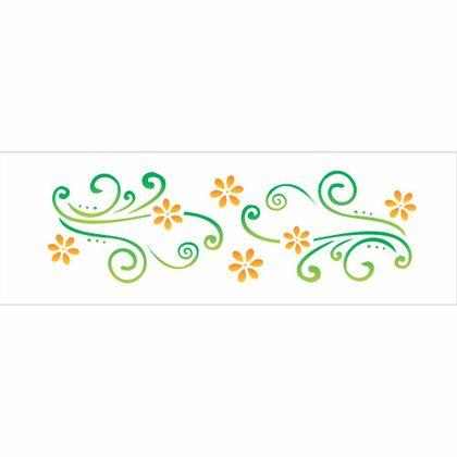 10x30-Simples---Arabesco-Margaridas---OPA343---Colorido