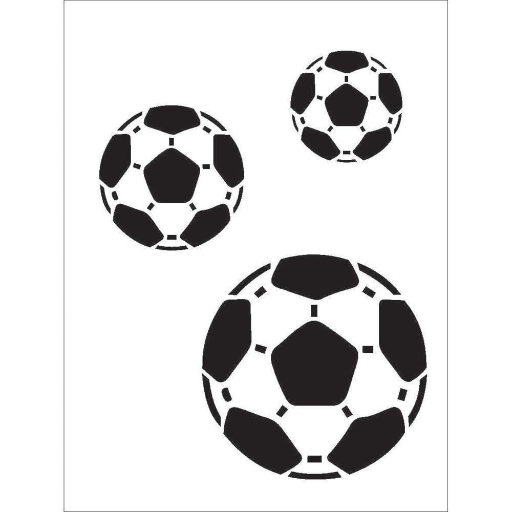 Stencil para Pintura 15 x 20cm - OPA161 - Bolas De Futebol - OPA ... 8a3fed4bbde1e
