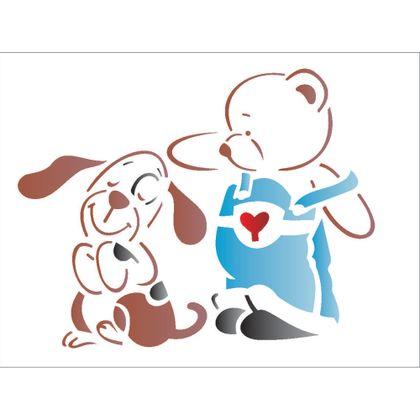 1321-15x20-Simples---Urso-e-Cachorrinho---OPA1321---Colorido