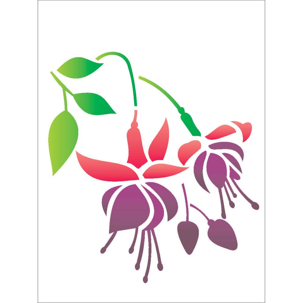 Stencil Para Pintura 15 X 20cm Opa1750 Flor Brinco De Princesa