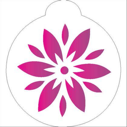 10X10-Redondo---Flor-Estilizada-II---OPA854---Colorido