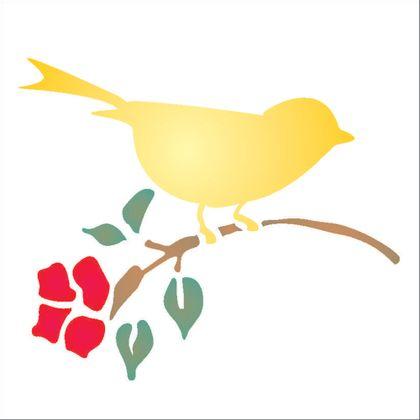 14x14-Simples---Passaro-com-Flor---OPA997---Colorido