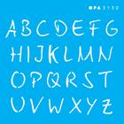 3130---10x10-Simples---Alfabeto-Micro-Maiusculo-15cm