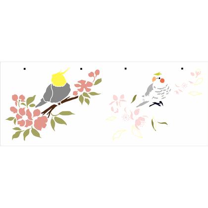 3158---17x42-Simples---Animais-Calopsita-com-Cerejeiras